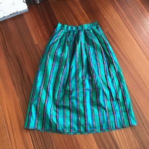 Vintage Brooks SILK plaid maxi skirt